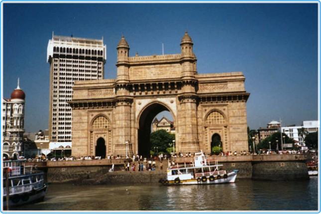 Типичный городской пейзаж в Индии