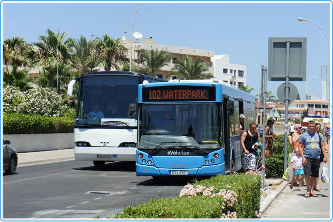 автобусы на Кипре
