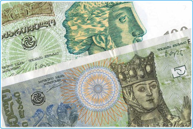 Грузинские деньги - лари