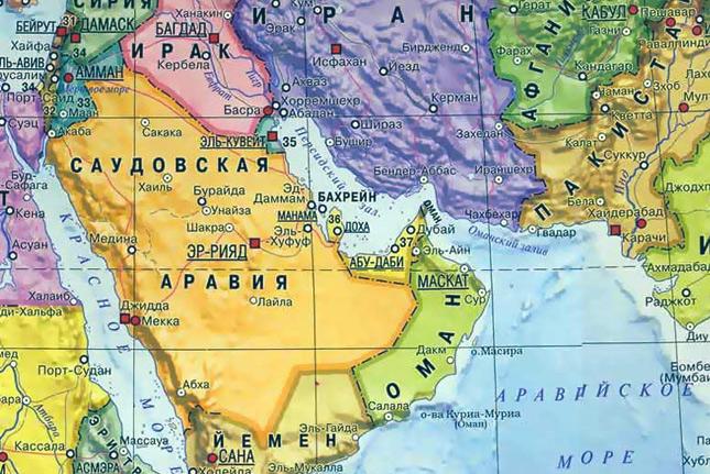 Катар на карте