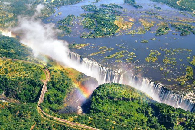 Замбия сверху