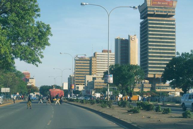 Вид на город в Замбии