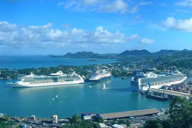 Пристань круизных лайнеров в Сент Люсии