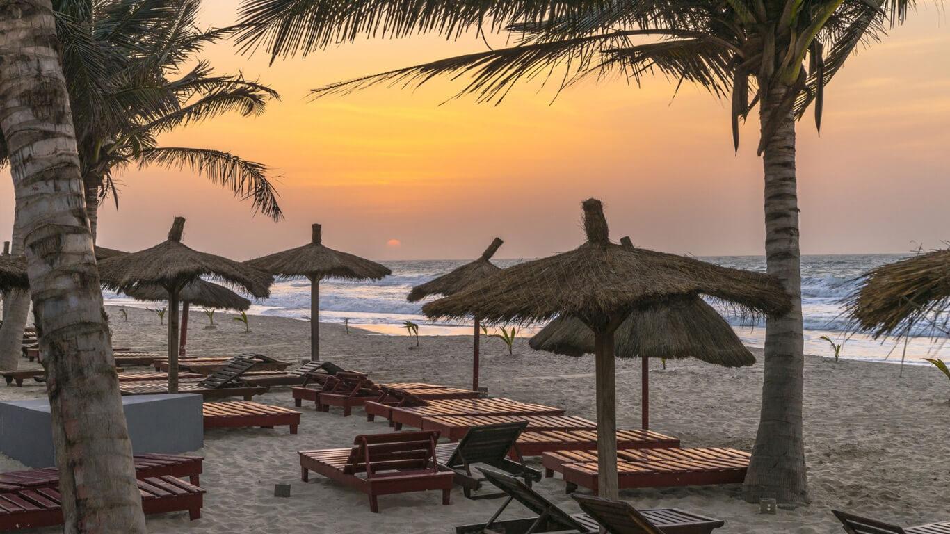Пляж в Гамбии