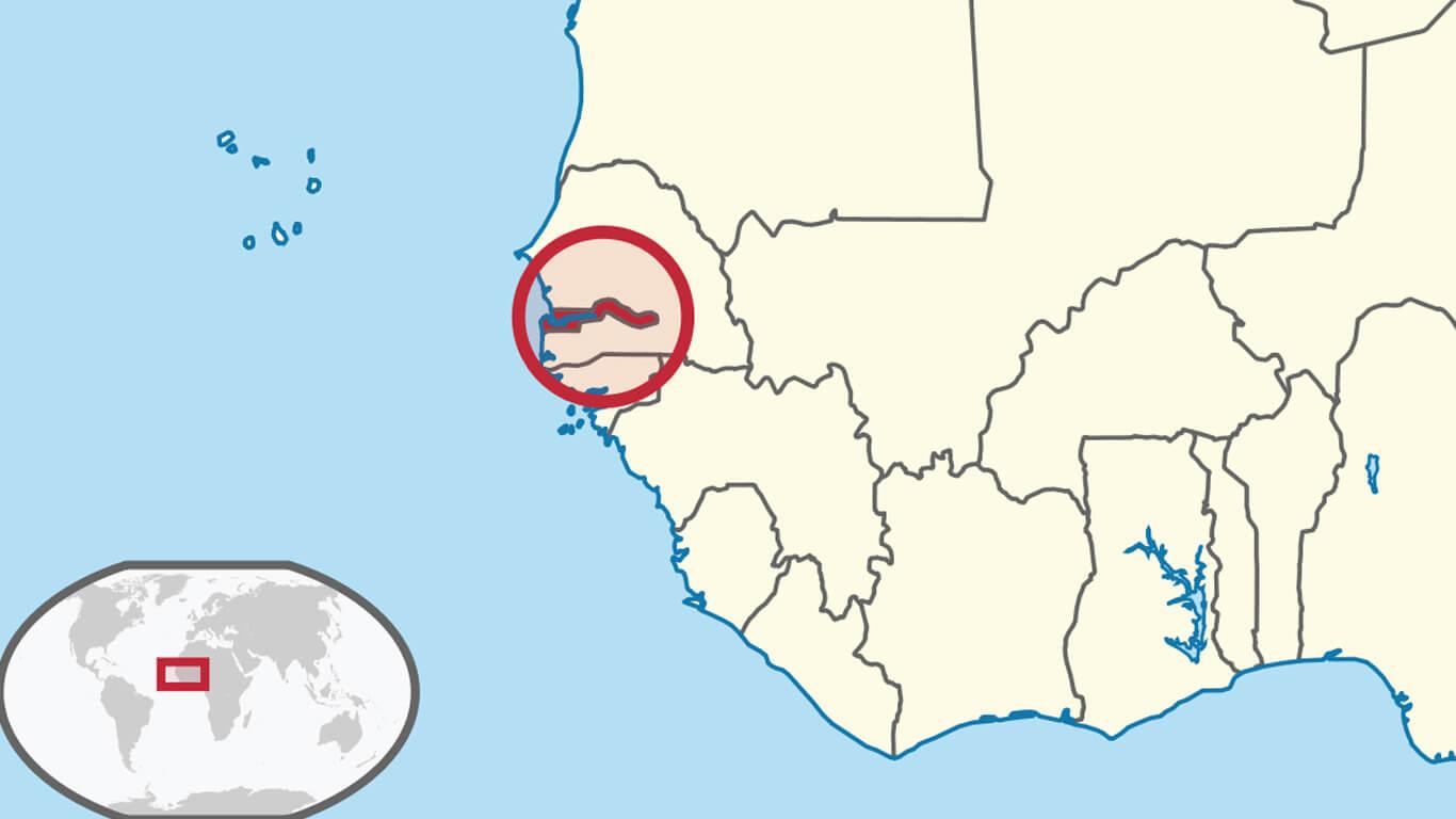 Гамбия на карте