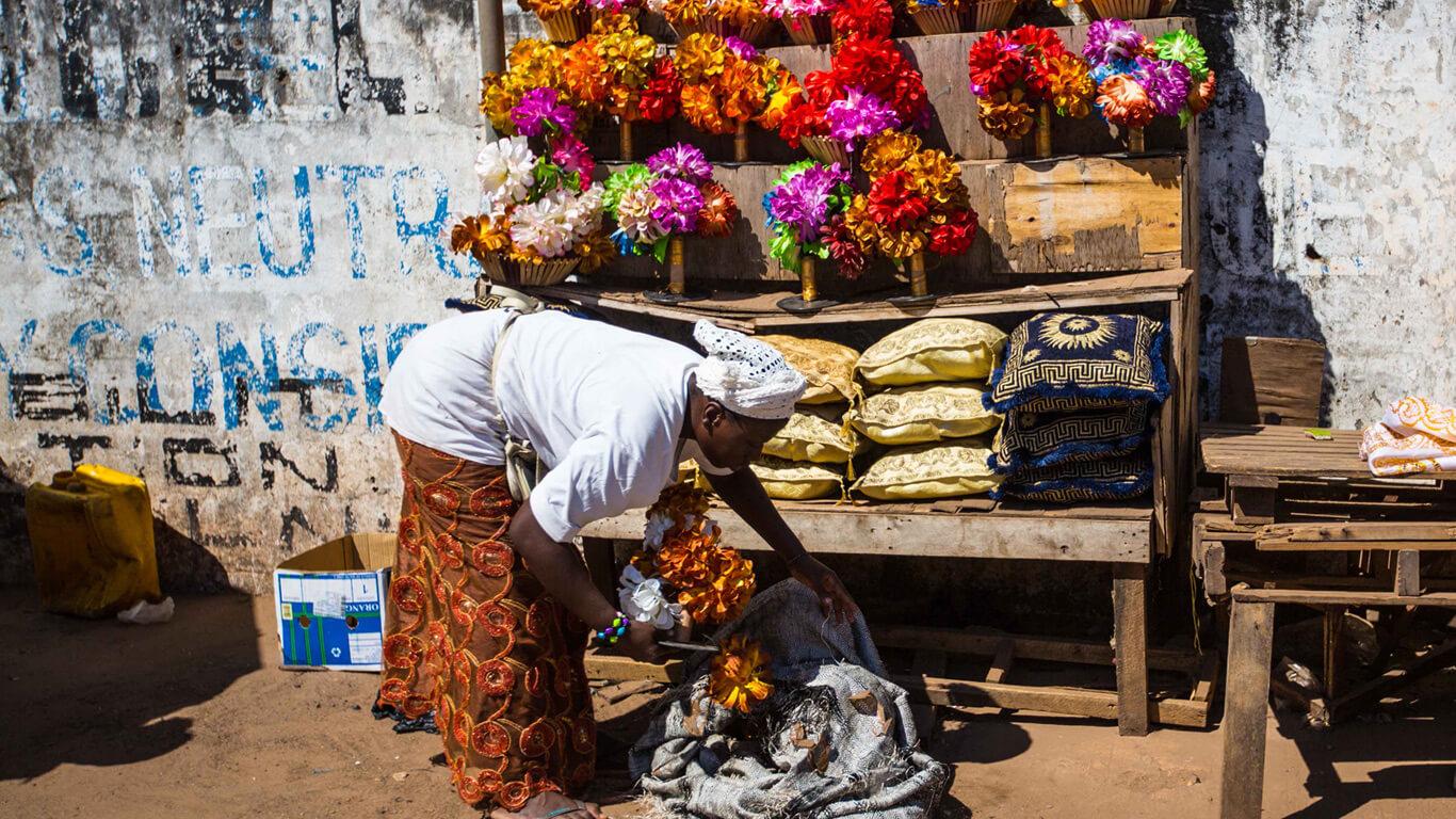 Рынок в Гамбии