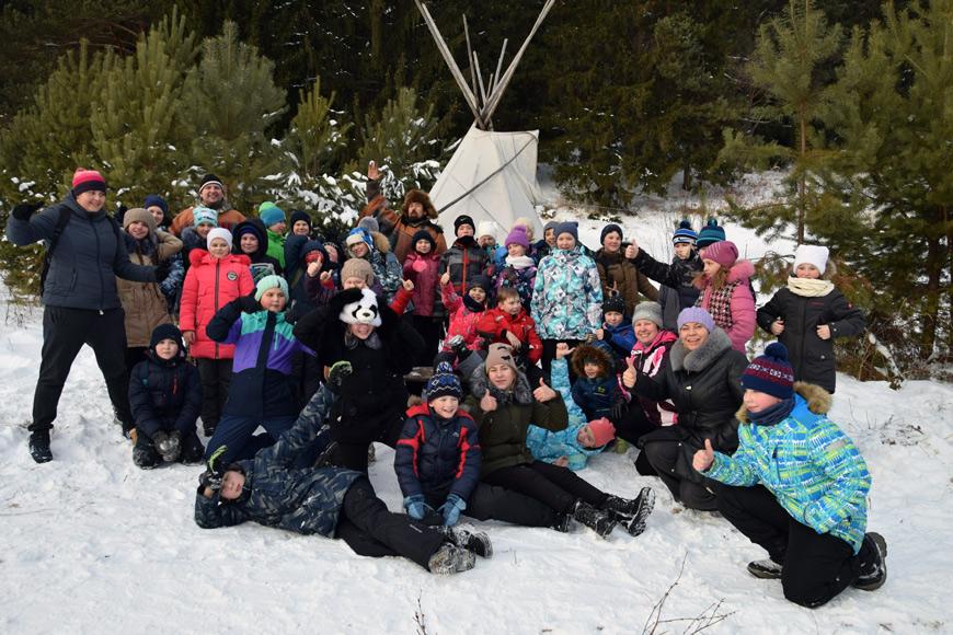 Новогодняя программа в Индейской деревне «Пять снежных братьев»